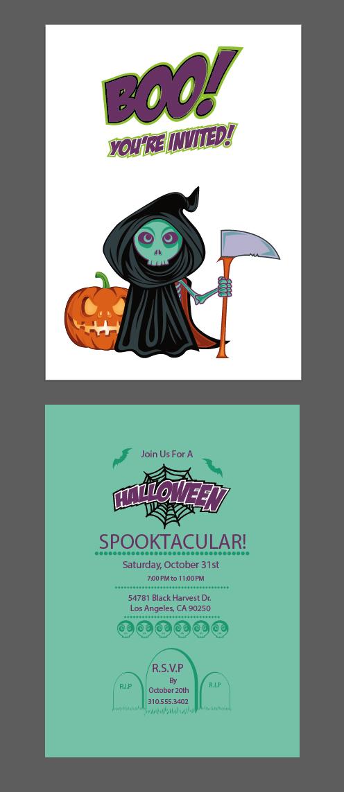 halloween vector invitation template