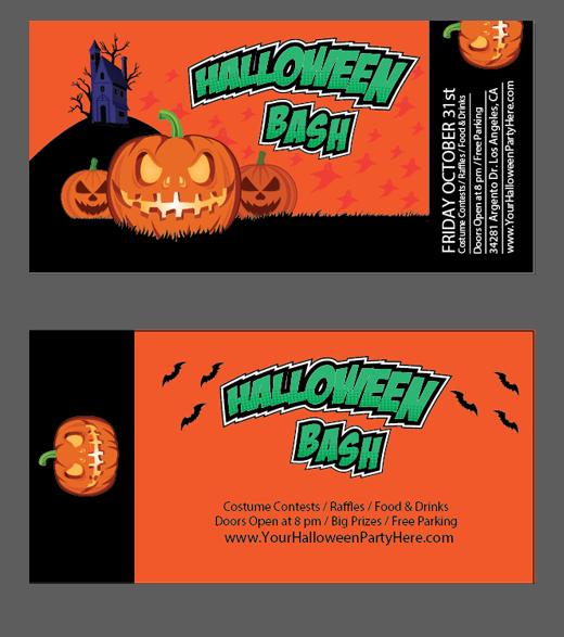 halloween vector tickets template