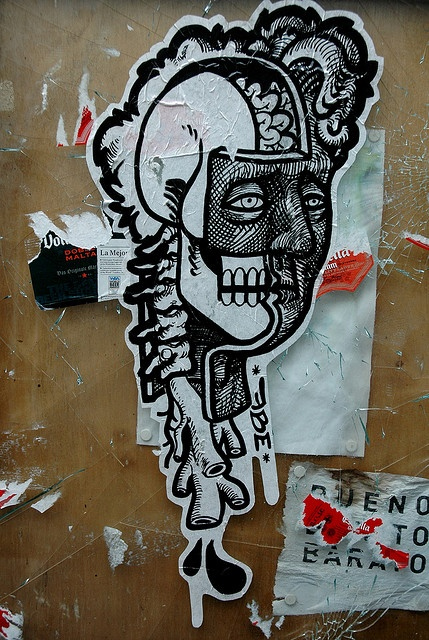 severed head-street sticker