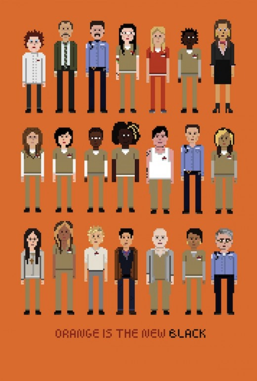 orange is the new black art poster