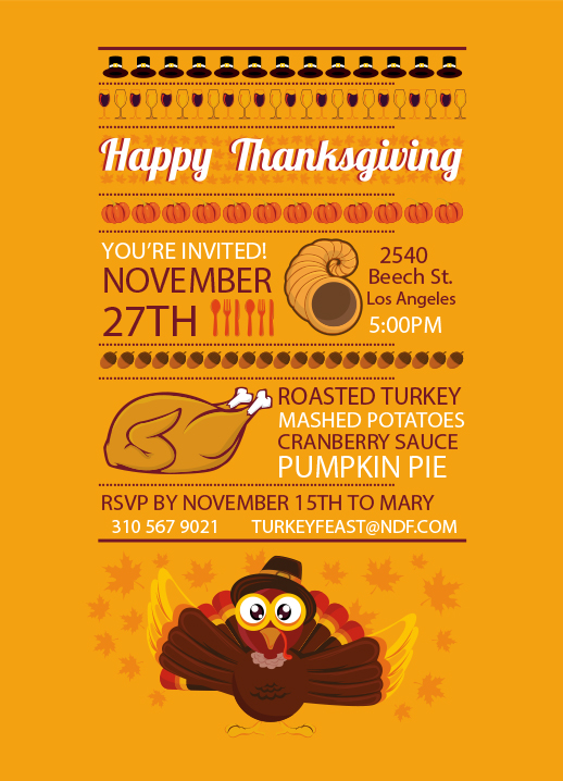 Thanksgiving Cards  Invitations Free To Download