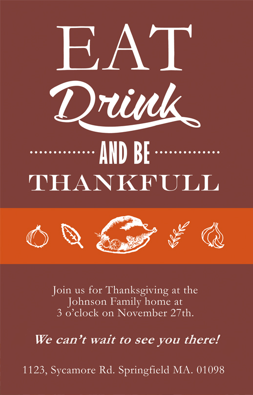 thanksgiving cards  invitations free to download, invitation samples