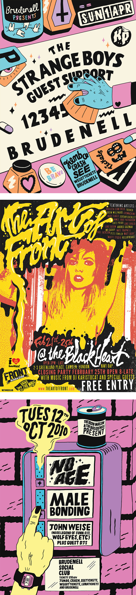 rad gig poster designs