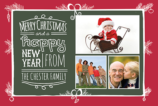 Family Christmas Postcard