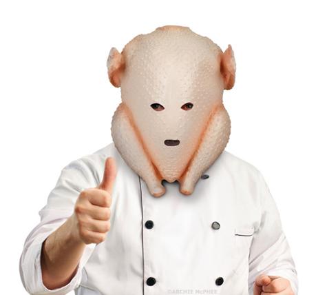 turkey head mask holiday gift