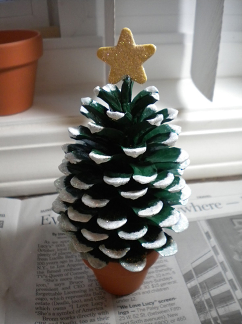holiday pine cone decoration