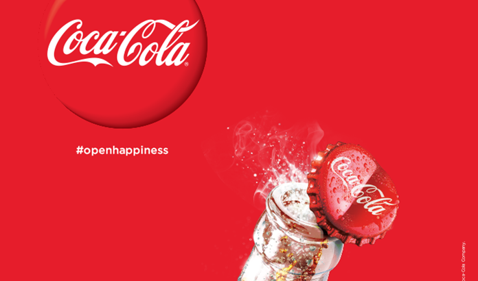 Coca-Cola Open Happiness Hashtag advertisement