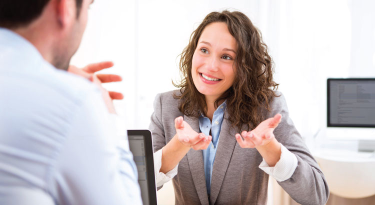 Marketers interviewing customers for a buyer persona analysis