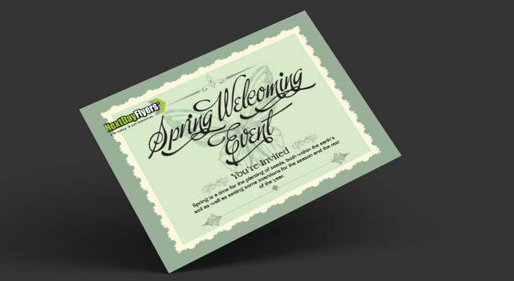 event direct mail postcard