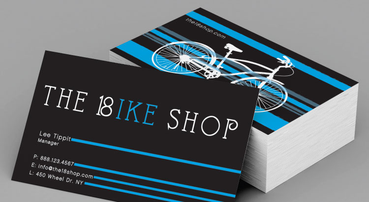 Business card with high contrast.