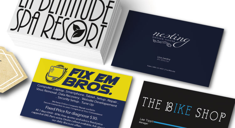 Business card design mistakes compilation