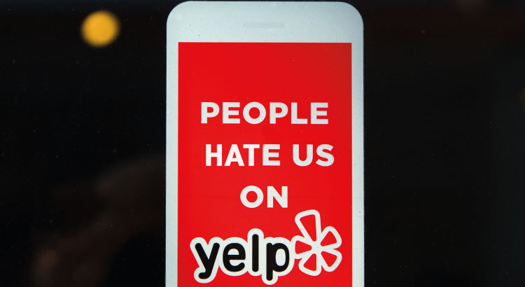 People hate us on Yelp campaign logo