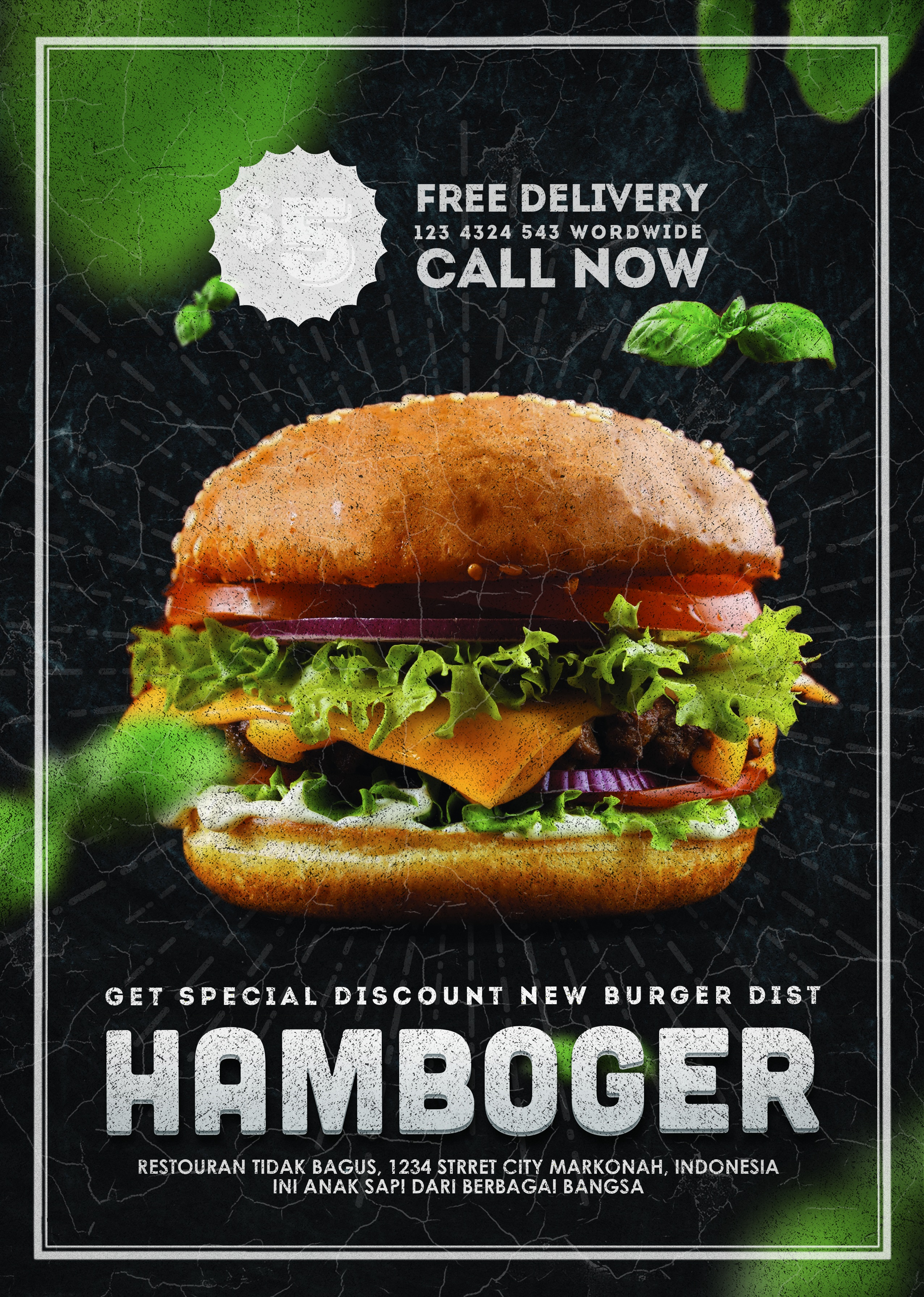 hamburger restaurant flyer by Alfian Saputra