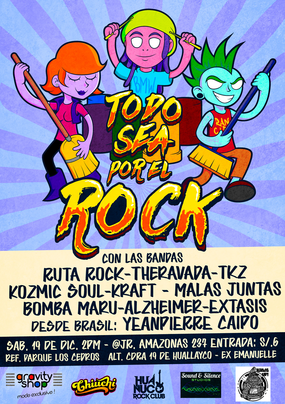 cartoon rock concert flyer by Bjorn Anka