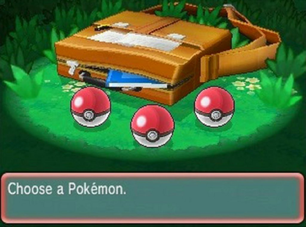 Screenshot from the original Pokemon game