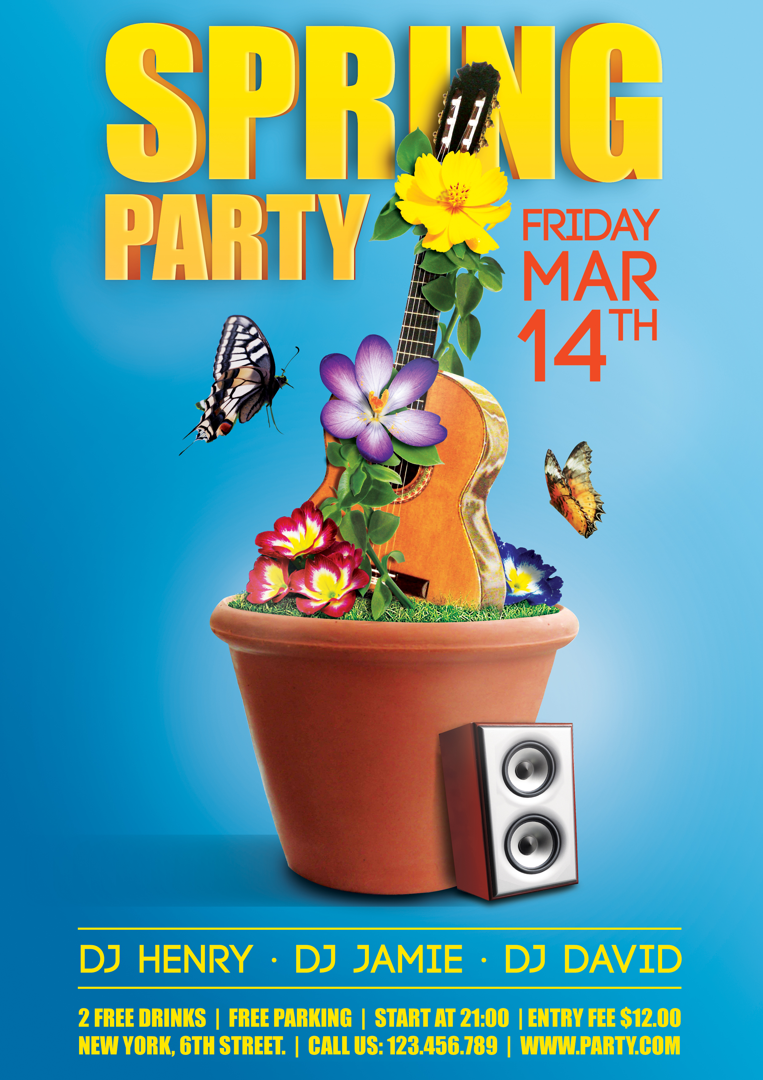 spring party flyer by Henry Hu