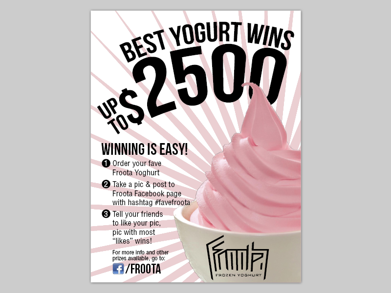ice cream food flyer by Brett Johnson