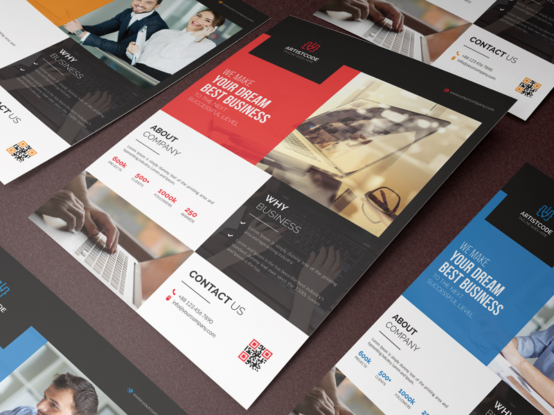 corporate flyers by Designer Eshad