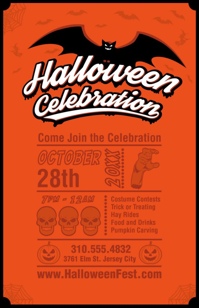 halloween poster invitation template