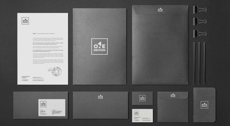 corporate stationery from One Design