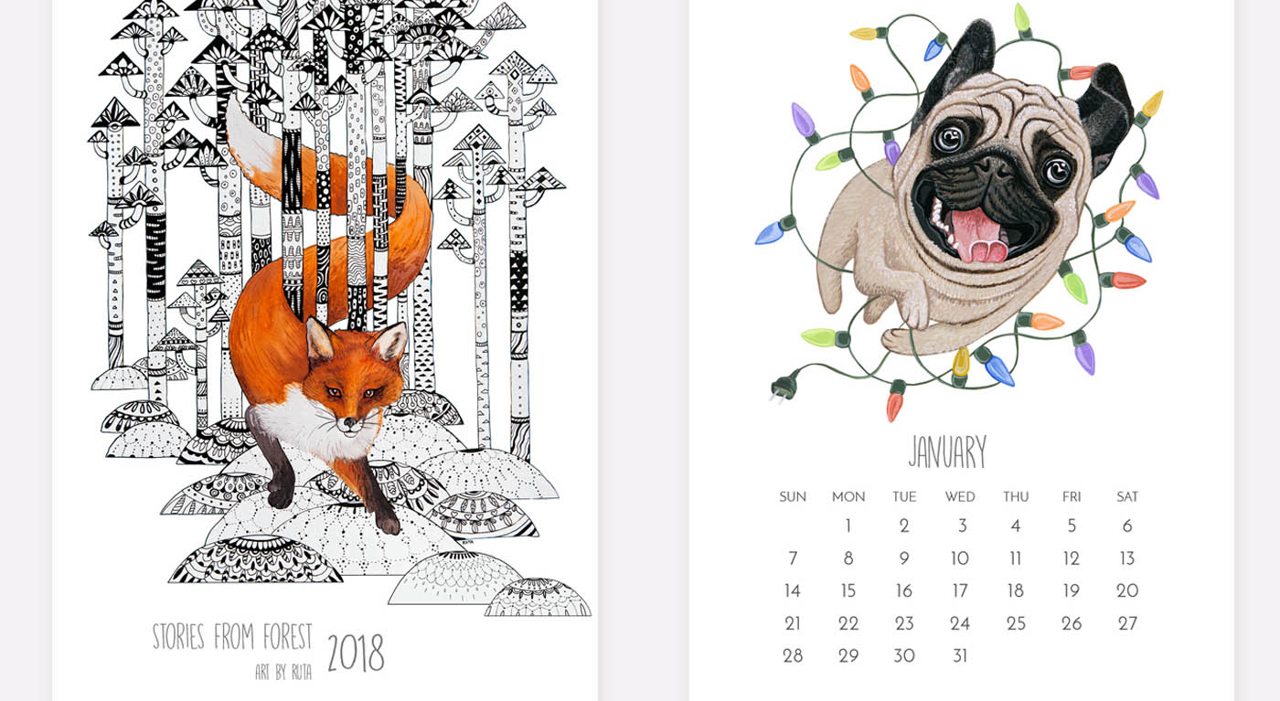 10 Creative 2018 Calendar Designs for Your Inspiration