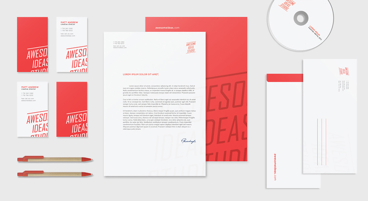 Corporate stationery from Awesome Ideas