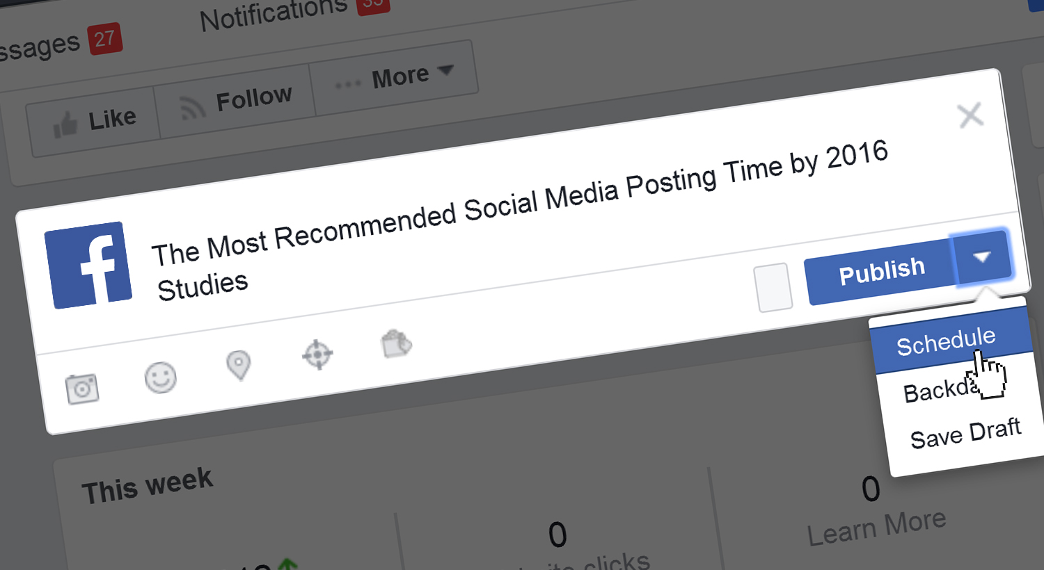 Recommended social media posting time from studies