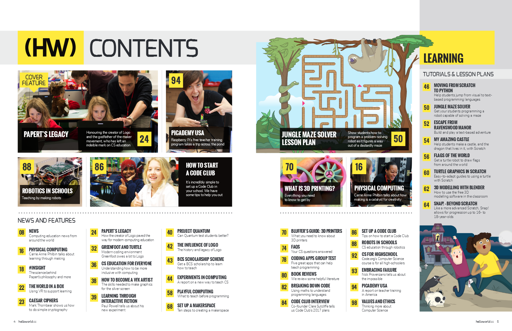 Hello World Magazine Contents