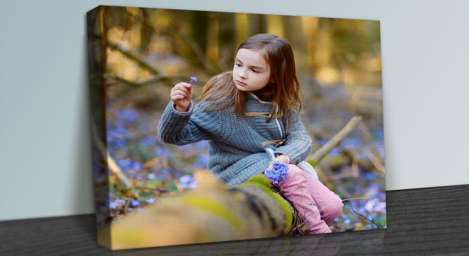canvas print of a young child