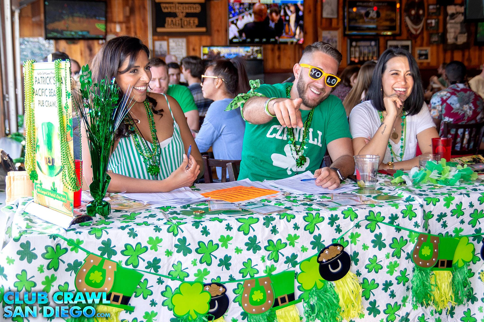 Daytime Pub Crawl Event on St. Patrick's Day