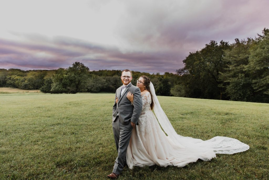 Newlyweds and Scenic View at Crawford Farm