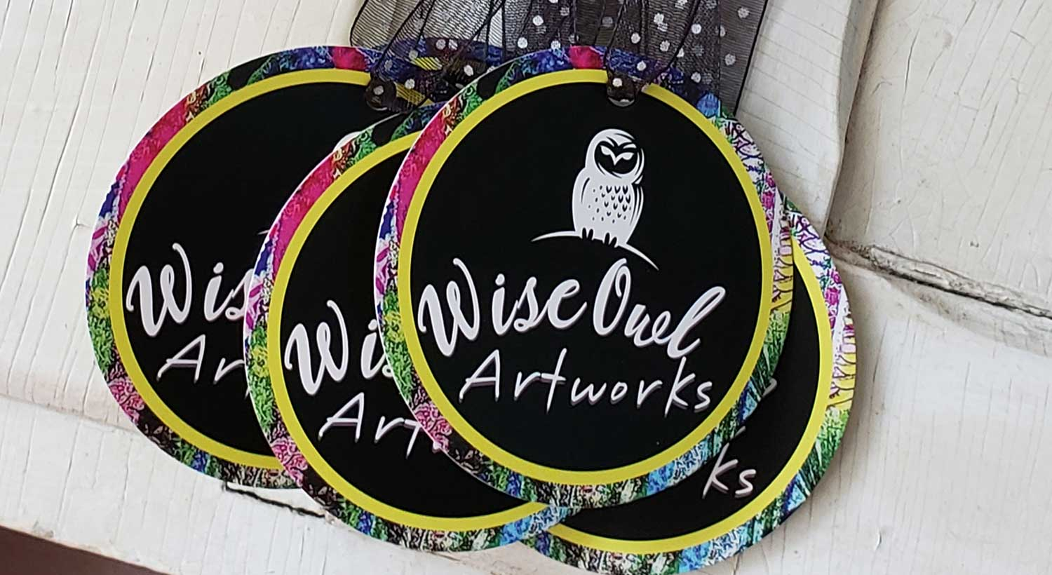 Wise Owl Artworks Die-Cut Hang Tags Printed by NextDayFlyers