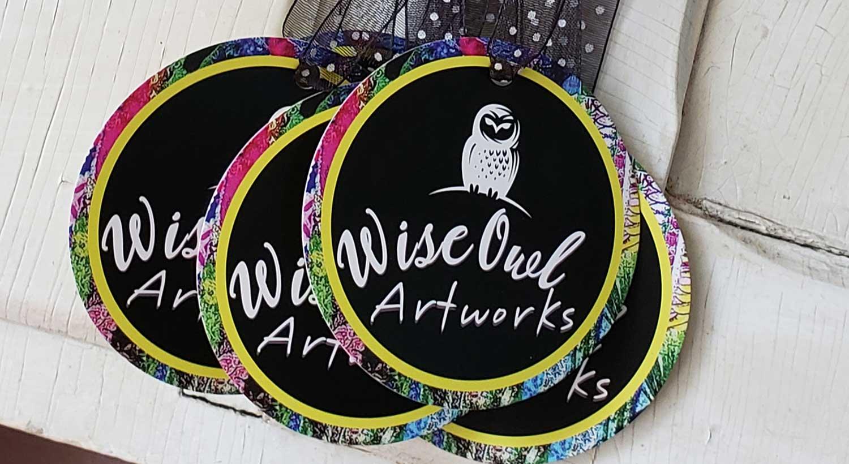 Wise Owl Artworks Die-Cut Hang Tags Printed by NextDayFlyers