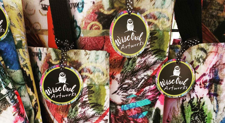 NextDayFlyers Die-Cut Hang Tags on Wise Owl Artworks Merchandise