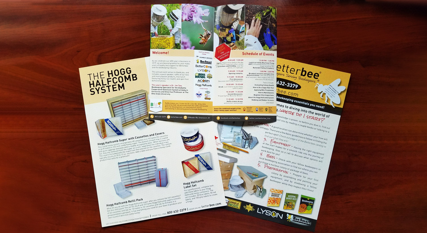Betterbee's brochures printed by NextDayFlyers