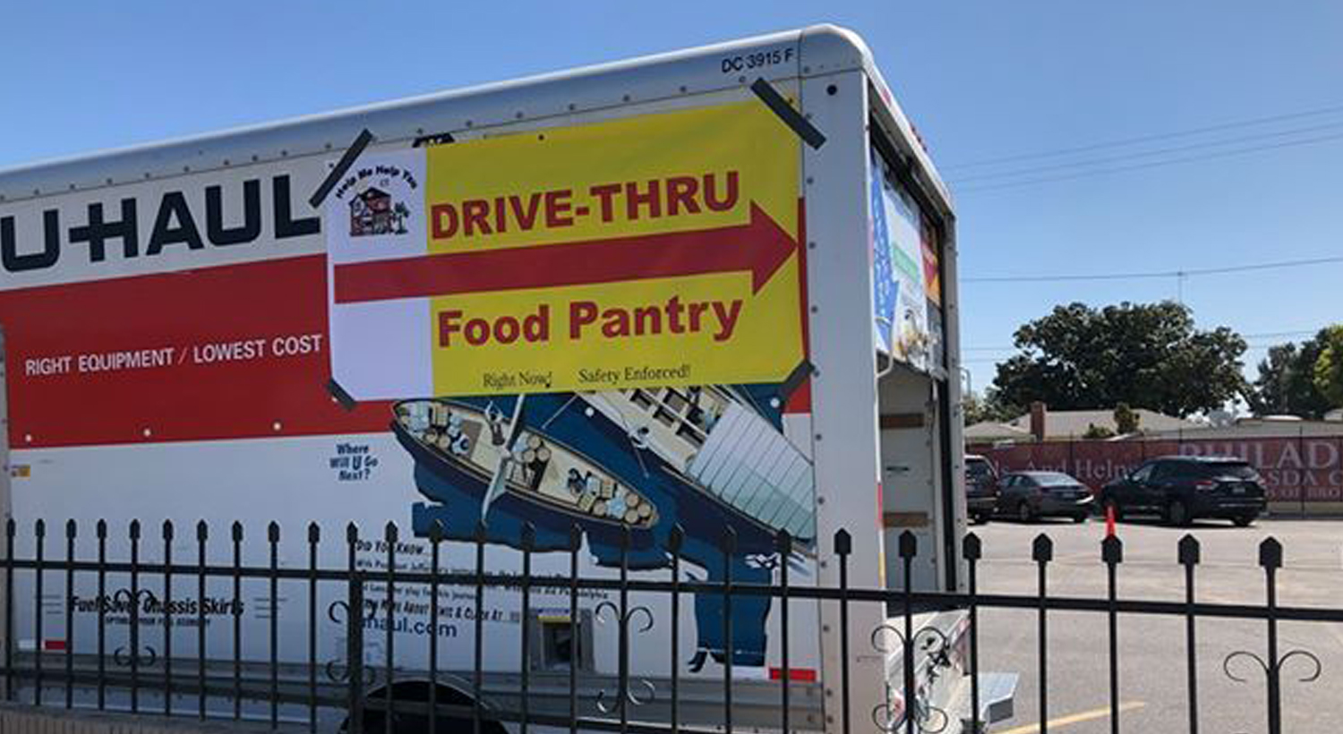 drive thru food pantry truck banner