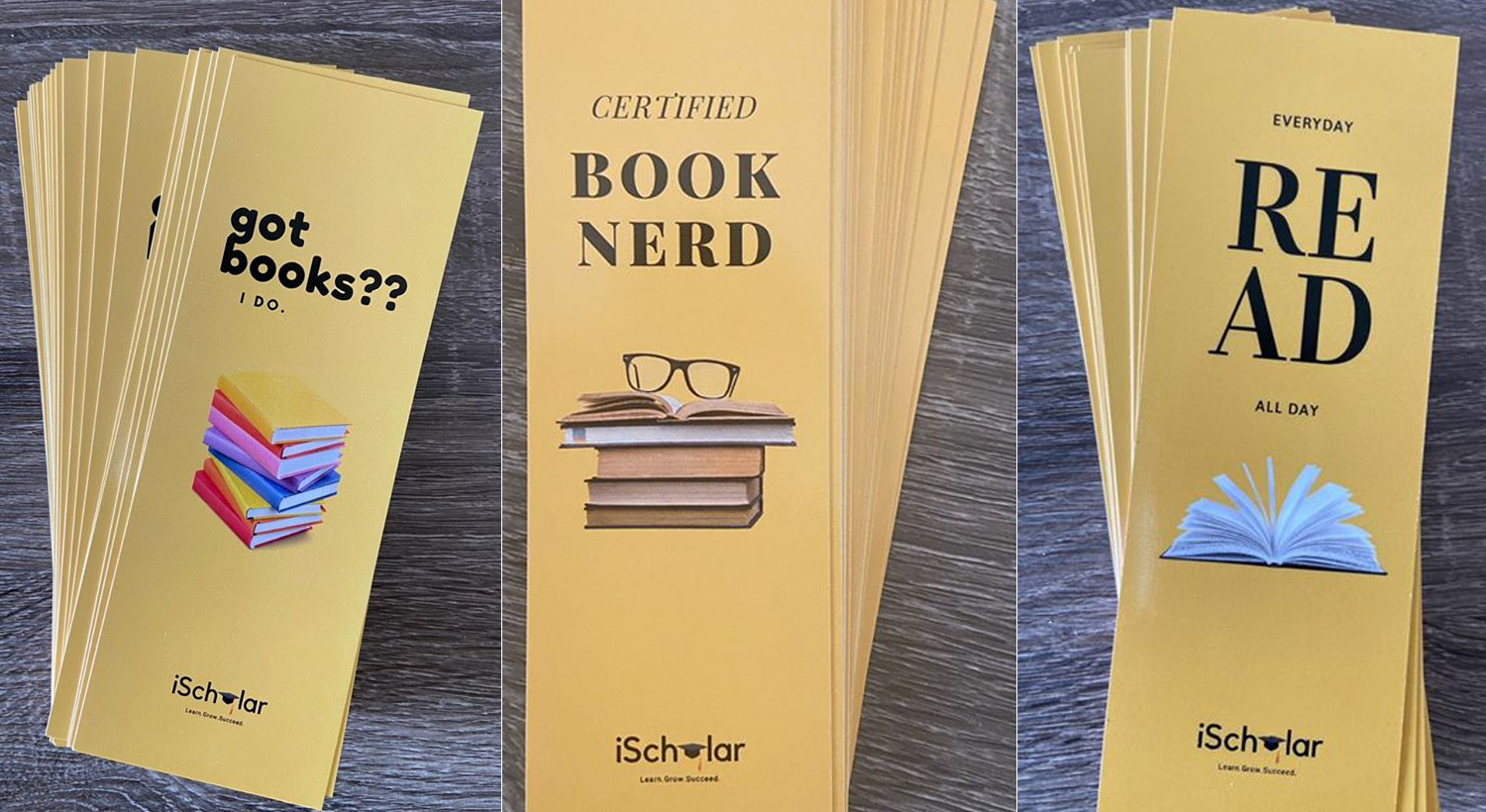 iScholar yellow bookmarks