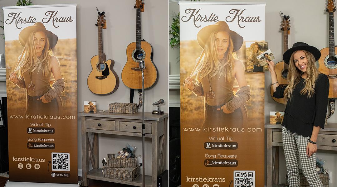 Kirstie Kraus custom pull up banner